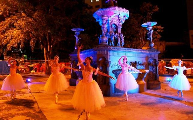 Na última edição a Praça da Matriz foi iluminada e recebeu espetáculo de balé. Foto: Ruth Jucá