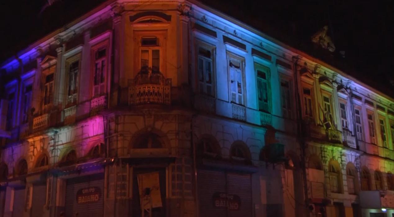 Prédios Históricos Iluminados em Manaus