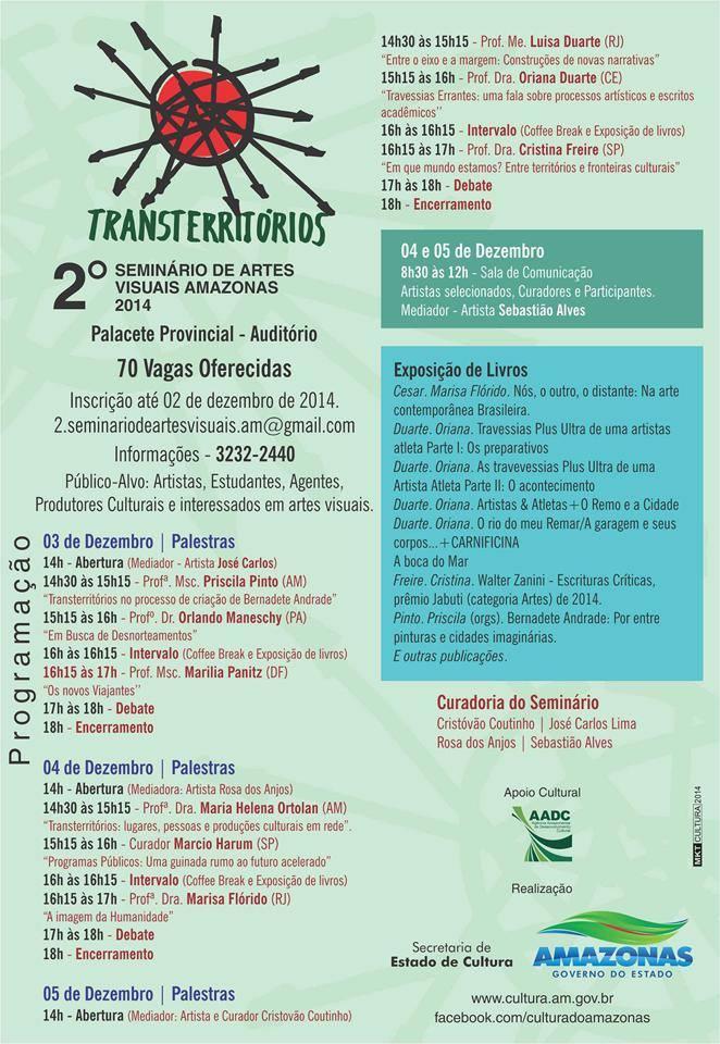 Transterritorios - 2º Seminário de Artes Visuais Amazonas 2014