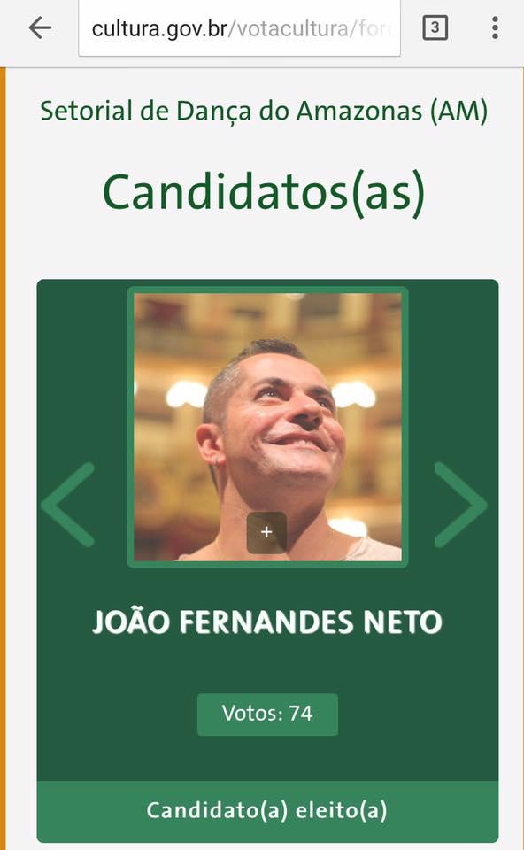João Fernandes eleito como representante da cadeira de Dança no CNP