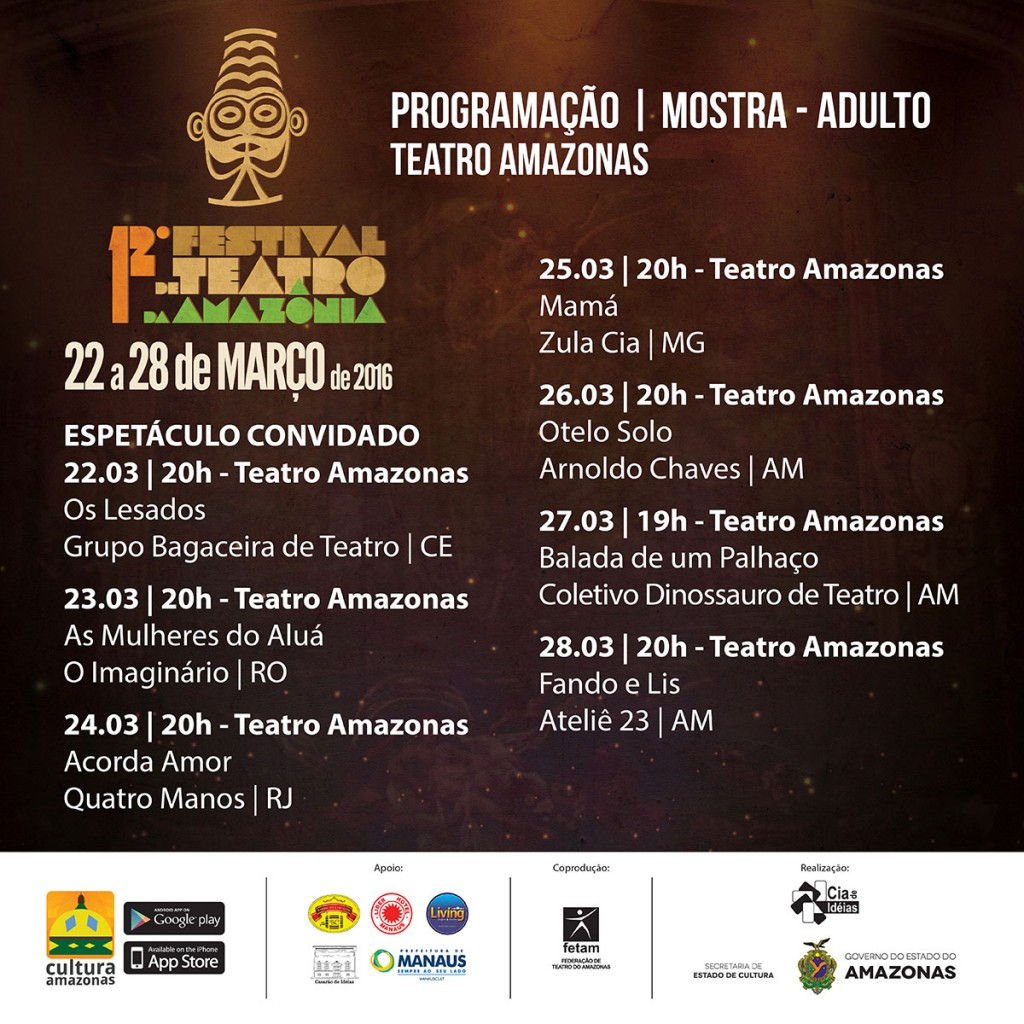 12º Programação de Festival de Teatro do Amazonas