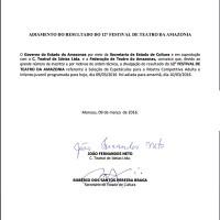 Adiamento da divulgação do resultado preliminar do EDITAL do 12ª Festival de Teatro da Amazônia