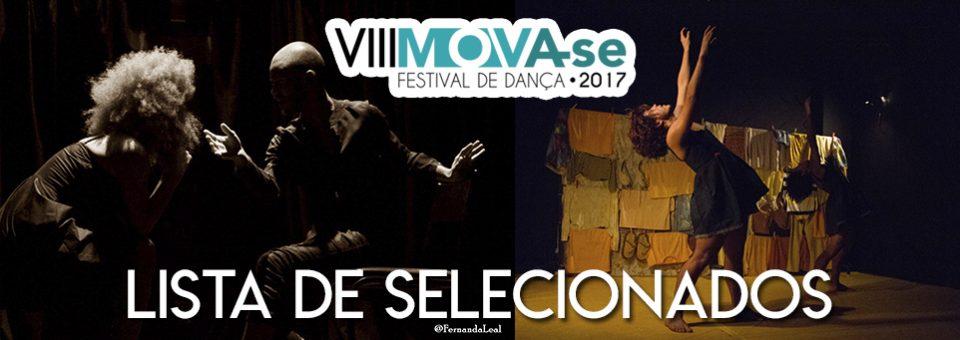 Lista de Selecionados para o VIII Festival Mova-se: Solos, Duos e Trios