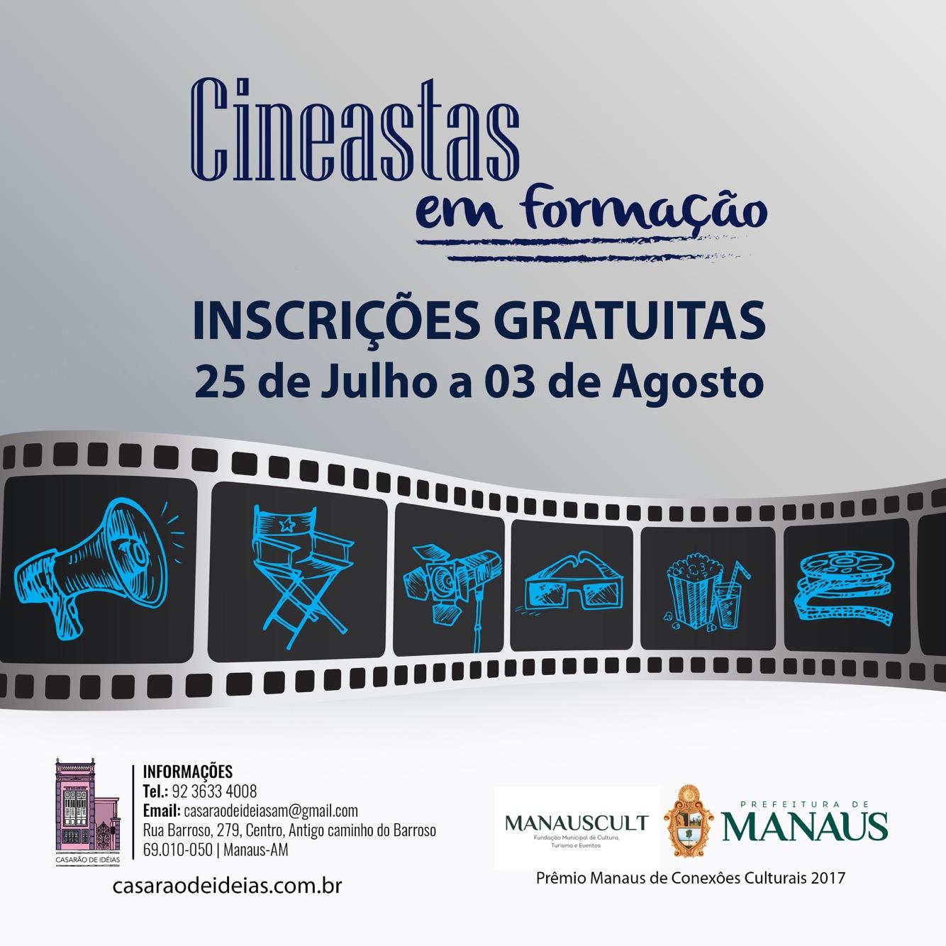 Casarão de Ideias abre inscrições para curso gratuito 'Cineastas em Formação'