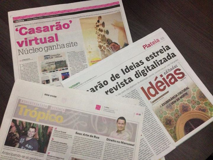 Cadernos de cultura dos jornais EM Tempo e A crítica divulgam o lançamento do site