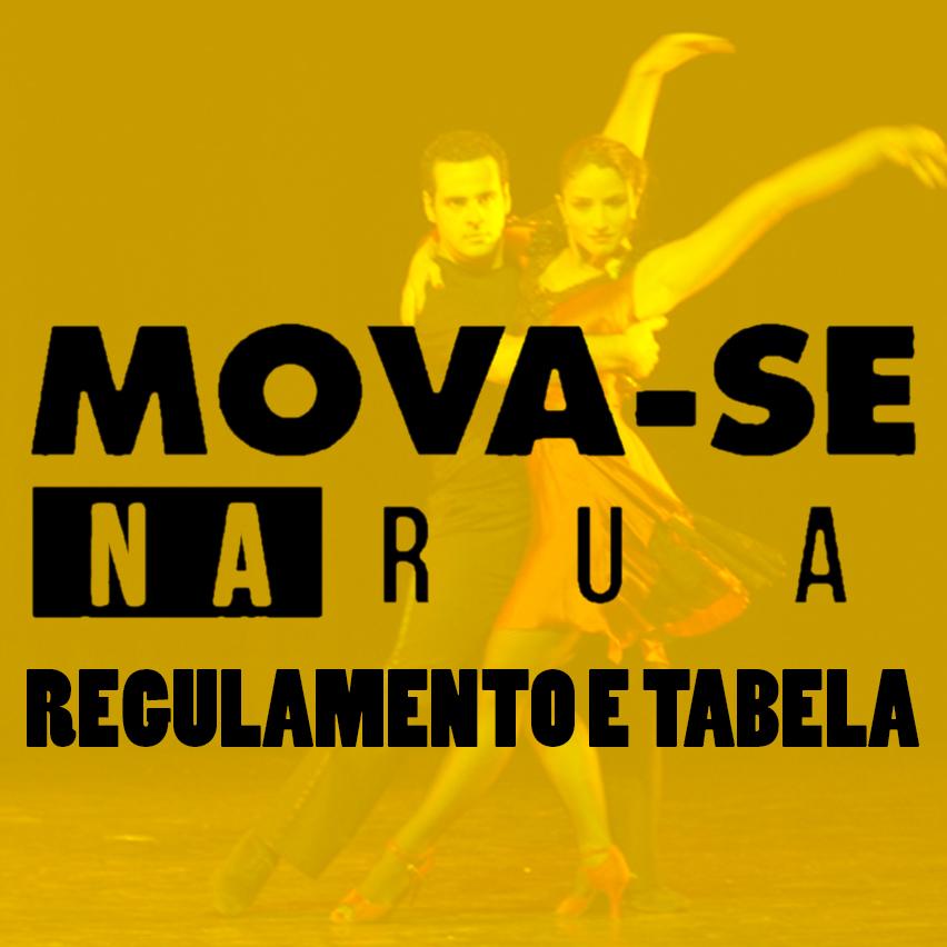 1º Batalha Mova-Se Na Rua - 2015 - Disputa de Dança de Salão - Regulamento e Tabela de Chaves