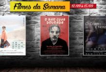 Cine Casarão - Filmes de 12 de setembro à 15 de setembro