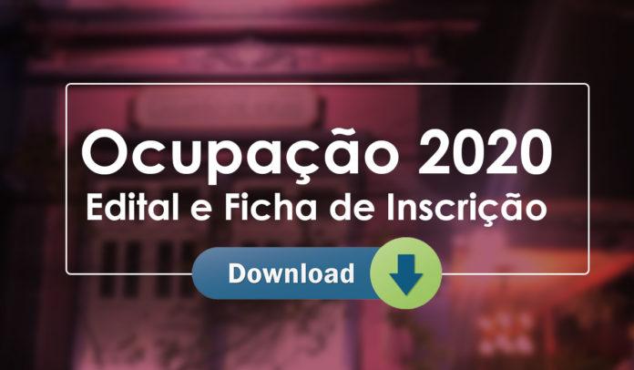 Faça Download do Edital e Formulário de Inscrição do Edital de Ocupação para 2020 do Casarão de Ideias